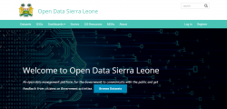 February 2019 – Ongoing: Recruitment of a Consulting Firm to Modify Open Data Portal to include SDG platform; Gov-ernment of Sierra Leone (GoSL), Project Fiduciary Management Unit (PFMU), Freetown, Sierra Leone.